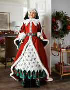 Katherineand039s Collection Snow Day Mrs Claus Doll Lifesize 28-028714 New