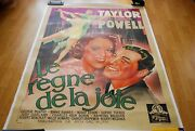 1936 Broadway Melody Of 1936 Movie Poster - French 3 Sheet- Linenbacked Rare