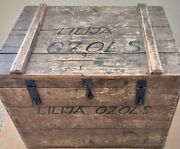 Rare Antique Steamer Immigrant Travel Trunk Germany New York Immigration Iro