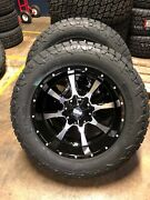 20x10 Moto Metal Mo970 Fuel At 33 Wheel Tire Package 6x5.5 Chvy 1500 W/tpms