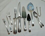 Lunt American Rlb Directoire Sterling Silver Serving Lot 11 Total .925 Odd Pcs
