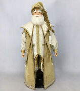 Katherineand039s Collection Moon Struck Santa Doll Gold 28-028671 New Christmas 2020
