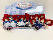 New Retired Applause Raggedy Ann And Andy 18 Beanbag Dolls In Store Display