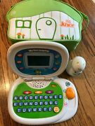 Leapfrog Leaptop Laptop Touch And Tag Jr + 6 Games + Bag Lot. euc 35