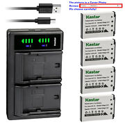 Kastar Battery Ltd2 Charger For Casio Np-70 Bc-70l And Casio Exilim Zoom Ex-z250bk