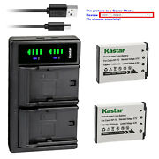 Kastar Battery Ltd2 Charger For Casio Np-70 Bc-70l And Casio Exilim Zoom Ex-z250rd