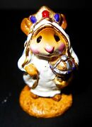 Wee Forest Folk Wise Man In White Robe, Wff M-121b, Nativity Mouse