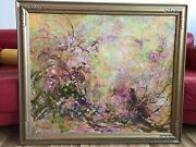 David Stirling Oil And Enamel On Board Painting Estes Park Colorado1967 35 X 41