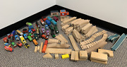 Thomas The Tank And Friends Wooden Train And Track Pieces 90's Allcroft, Gullane