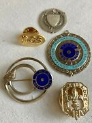 Vintage Sterling Silver Pins And Badges