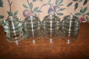 4-vintage Glass Insulators Clear Pre-drilled Hemingray,armstrong's