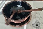 New Six Pieces Wooden Salad Mixing Bowl Set With Ceramic Inner Bowl And Plate