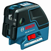 Bosch Gcl25 Self Leveling Alignment 5-point Laser Cross-line