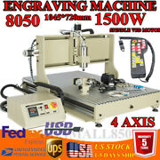 Usb 4axis 1.5kw Cnc 8050z Router Engraving Wood Mill/cutting Engraver+controller
