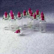Lot 3ml Bottles Wholesale Small Empty Clear Glass 16x35 Mm Red Rubber Stopper