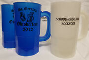 Lot 10pcs Plastic 14oz Beer Party Mugs [overstock] New Shipsfast Free Usa Made