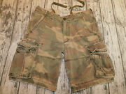 Abercrombie And Fitch Shorts Camo Cargo Adirondacks Olive Green Menand039s 33 Waist 36