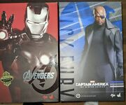 Hot Toys Ironman Mark 7 Vii And Nick Fury Action Figure Doll 12 Inch Lifelike