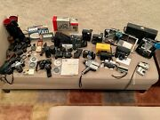 Huge Vintage Camera Lot Of 14 Pentax H3 Canon A1 Nikon F100 Polaroid And Much More