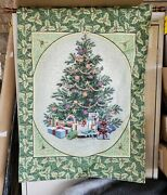 Led Lighted Decorated Christmas Tree Hanging Home Wall Tapestry 26 X 36