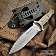 8 Tactical Knife G10 Handle W/ Molle Compatible Kydex Sheath Hunting Knife