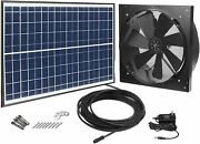 Solar Powered Exhaust Fan Ac Power Backup Built-in Thermostat Switch 1750cfm