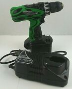 Hitachi Koki Ds14dvf3 3/8 Nicad 14.4v Cordless Driver Drill Charger And Battery