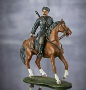 Painted Tin Soldiers Toy Figures 54mm. Civil War Horserider Cossack. 6001fw