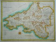 Antique Map Of South Wales By John Cary 1789