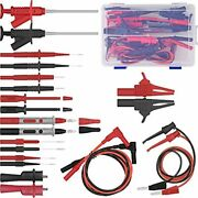 Test Leads Set 22 In 1 Multimeter With Electrical Alligator Clips Soft Probes