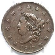 1817 N-7 R-7 Pcgs Vf 20 Cac Matron Or Coronet Head Large Cent Coin 1c
