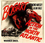 Action In The North Atlantic Vintage Movie Poster 6 Sht Bogart