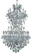 2801d36scrc 34 Light Chandelier Maria Theresa Chrome