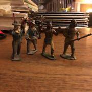 """Lot 4 Cast Lead Cowboys And Indians Barclay Manoil 2.25"""""""