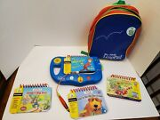 Leap Frog My First Leap Pad Blue Lot Of 3 Books And 1 Cartridge Game With Backpack