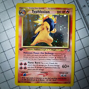 [new] As-is 1st Edition Typhlosion Holo 17/111 Pokemon Card Neo Genesis Ungraded