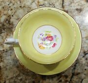 Vintage - Victoria Cande - Bone China Tea Cup And Saucer 7861