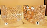 Coin Cube Paperweight Vintage Lucite Acrylic Suspended Pennies Mint 1968