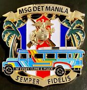 Msg-d Marine Security Guard Detachment Manila Philippines Challenge Coin