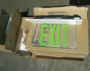 25 Brand New Cooper Sure-lites Elx Uhled Lbl-538 Green Exit Signs 3 Pieces