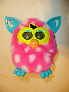 2012 Furby Boom Hot Pink With White Polka Dots Electronic Interactive Chatty Toy