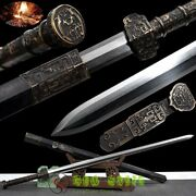 Full Copper Tang Chinese Sword Eight Sided Han Jian Folded Pattern Steel Sharp