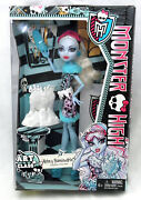 New Abbey Bominable Daughter Of Yeti Monster High Art Class Retired Doll Bjd