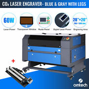 28x20 60w Co2 Laser Engraver Marking Engraving Cutting With Ruida Rotary Axis