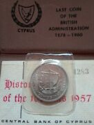 Cyprus 100 Mils Collectible And Most Wanted Coin Issued Date 1957.only 5.000
