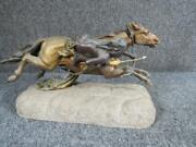Antique Sgnd. Carl Kauba Bronze Of Native American Indian On Horse