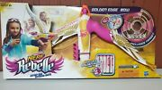 Nerf Toys R Us Exclusive Rebelle Golden Edge Bow W/ Target And Darts New In Box