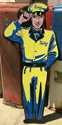 5 Foot Sunoco Service Man Sign / Garage Signs For Men / Sunoco Signs Gas And Oil