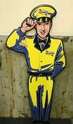 5 Foot Sunoco Service Man Sign Die Cut Aluminum New Sunoco Signs Gas And Oil