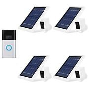 Ring Video Doorbell And Spotlight Cam Battery With Solar Panel Bundle 4 Pack